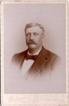 1880's Edwin Clark Cabinet Card Photo New Haven, New Haven County CT