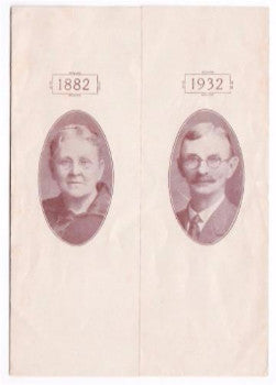 1932 Emma & Schuyler Breed 50th Anniversary, Unity, Sullivan County NH