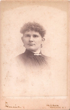 1880's Lucinda Davis Cabinet Photo, Fairport, Monroe County, New York