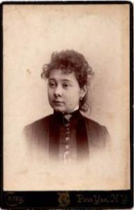 1880's Elizabeth Beers Long Cabinet Photo, Penn Yan, Yates County NY