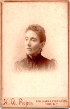 1880's Elizabeth Lizzie Brust Cabinet Photo, Troy Rensselaer County NY