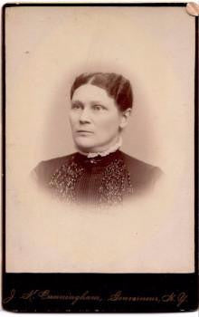 1880's Jane Ormiston Lockie Tait Cabinet Photo, Gouverneur & Rossie NY
