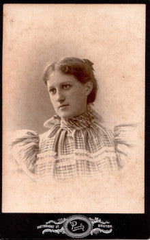 1890's Katherine Morton Walsh Cabinet Card Photo, Boston Massachusetts