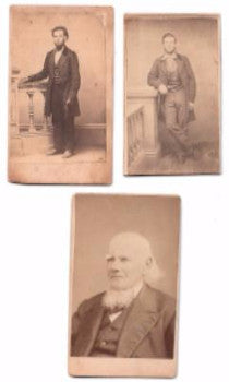 1860 Thomas, Rufus & Jefferson White CDV Photos, Belchertown, MA