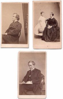 1860's Reverend Dr. James A. Bolles, 3 Family CDV Photos, Cleveland OH