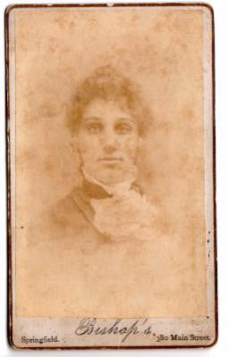 1880's Fannie E. Kibbe, (wife of Albert L. Kibbe) CDV Photo Somers, CT