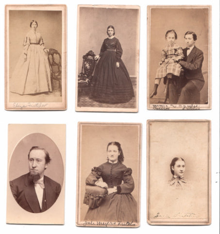 1860's Fritcher Family 9 CDV Photos, New York State & Pennsylvania