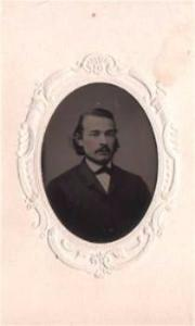 1860's Dr. Theophilus Fischer MD Civil War era Tintype, Philadelphia