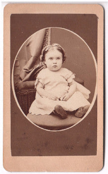 1870's Ella Robb Seabridge CDV Photo, Coeymans, Albany County New York