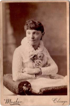 1884 Lizzie Hutchison Humphrey Cabinet Photo, Chicago, Cook, Illinois