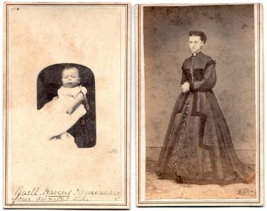 1860's Buell Havens Heminway & mother Julia CDV Photos, Connecticut