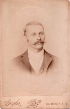 1880's Richard Lorenz Cabinet Photo, born Germany, Lived Brooklyn NY