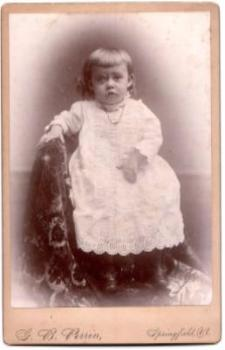 1890's Mary Alida Leland Lawrence ID'd Cabinet Photo, Springfield VT