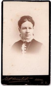 1870's Mrs. T.P. Saunders ID'd CDV Photo to Leoni Fitch, Adams NY