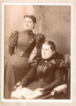 1880's Lucy Flansburg & Lucy Tenny Cabinet Photo, Lima, Livingston NY