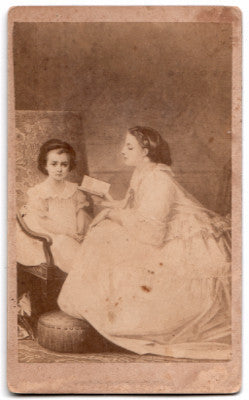1860's Welthy Morton ID'd CDV Album Filler Victorian Photo Chenango NY