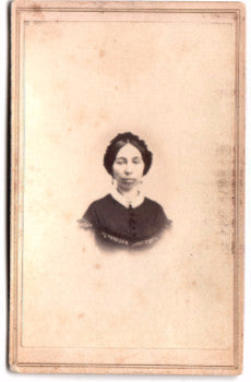 1860's Roxanna Torrey Cropsey CDV Photo, Oswego County, New York