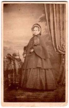 1860's Mrs. Schoell CDV Photo by London Photographer Henry Death, UK