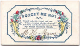 1840 to 1860's N.H. Mason Family Signed Antique Victorian Calling Card