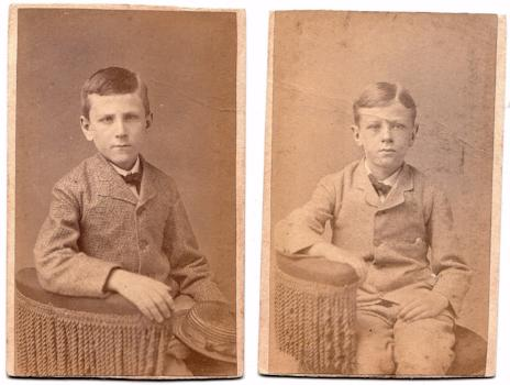 1870 Edward & Arthur Ashley Photos, sons of Silas Ashley, New Bedford