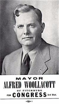 1942 Politician Alfred Woollacott, Mayor of Fitchburg, Worcester MA