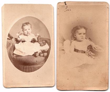 1860's 2 Charles Gilchrist CDV Photos Fort Edward Washington County NY