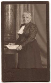 1890's Rosa Ehrmann CDV Photo, Germany, mother of Leopold Ehrmann USA