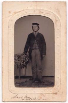 1860's Alex F. Munro ID'd Civil War Tintype Photo Co. B 5th Regt. Army