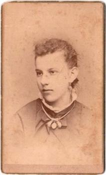 1870's Catherine Amos Peters CDV Photo, Syracuse, Onondaga County NY
