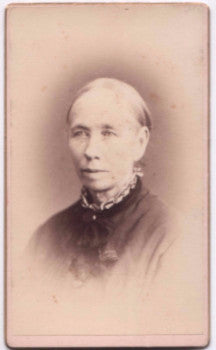 1870's Jerusha F. Mansur ID'd CDV Photo, Lawrence, Essex County MA