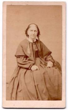 1870's Sarah Bashford signed CDV Photo, New York City, Kings County NY
