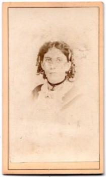 1870's Ada Whitaker Blanchard Carrick CDV Photo, Westfield, Hampden MA