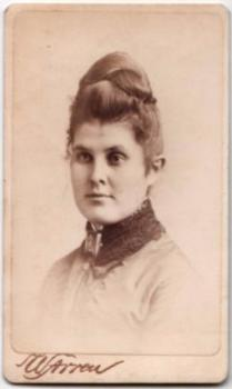 1870's Kate Estey CDV Photo, Boston, Suffolk County, Massachusetts