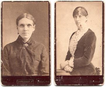 1870's Mary & Alice Stearns CDV Photos, Westfield, Hampden County MASS