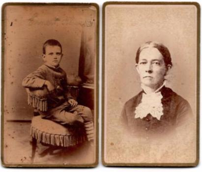 1880's Ernest Whitaker Blanchard CDV Photo Set, Westfield, Hampden MA
