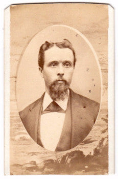 1878 James McLennan CDV Photo, Clarence, Iowa (wife Alderose Esmay)