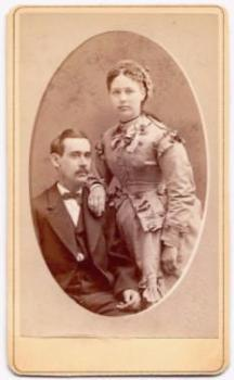 1870's Benjamin Cooper Wright & Almeda Darling Photo, San Francisco CA