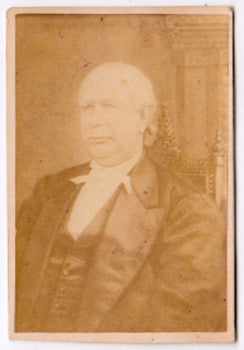1870's Undertaker Stephen Merritt Sr. CDV Photo, NYC by Juliette Nexsen