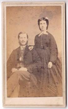 Chase Genealogy: 1860's Oscar Chase Family CDV Photo Civil War era
