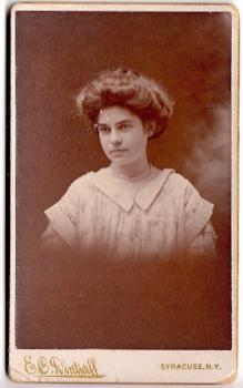 1890's Alice K. Simons ID'd CDV Photo, Syracuse, NY (Alice Klink)