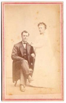 1860's Jonas Johnson Civil War era CDV Wedding Photo, Fond Du Lac WI