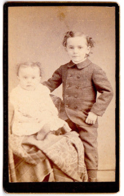 1870 Ruth & Nelson Phelps CDV Photo, Bellows Falls, Windham County VT