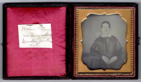 1840's Mahala Richmond Southworth Daguerreotype Photo, Middleboro MA