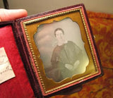 1840's ID'd Daguerreotype of Mahala Richmond, Mrs. Henry Southworth - Ancestorville