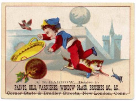 1885 Albert Rogers Darrow Hardware Co., New London CT Advertising Card