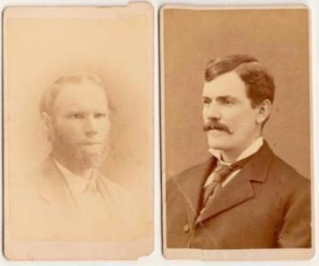 1870's Nathan Dolbier Mayo & Abner W. Mayo 2 CDV Photos, Maine & Mass