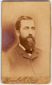 1870's Alvin Estabrook CDV Photo, 53rd MA Civil War, Leominster MA