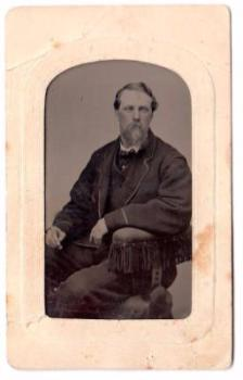 1860's Adrian Hemphill ID'd Tintype Photo, Civil War Vet Hartsville NY