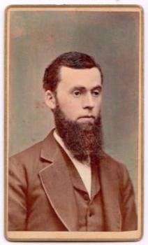 1870 Daniel Dunn Hand Colored CDV Photo by Photographer Augustus Alden