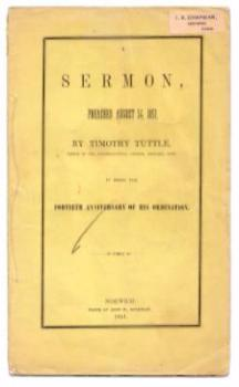 1851 Rev. Timothy Tuttle Sermon Book, Ledyard CT Congregational Church